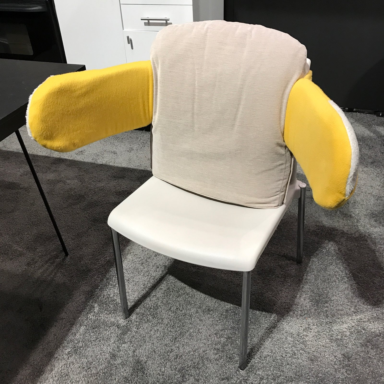 The Hug Chair is a prototype seating piece for Alzheimer's patients, introduced at part of Pratt's installation at ICFF entitled Designed for the Mind. It was created by Nick Petcharatana. The Best of New York Design Week 2017 - Photo 32 of 36