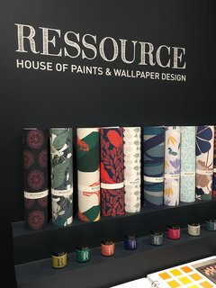 "The Best of New York Design Week 2017 - Photo 34 of 35 - Ressource is a French company that's focused on bespoke wall coverings and paint. They employ an ""archaeologist of color"" named Patrick Baty who researches the hues used in art and architecture over the last few hundred years and integrates those tints into the inventory. The company has been producing their wares since the 1940s In their factory located in the south of France. Spotted at WantedDesign."