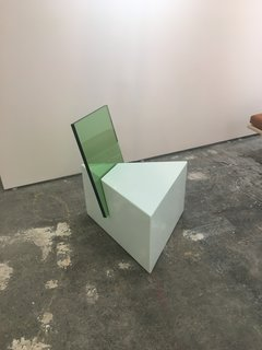 The Best of New York Design Week 2017 - Photo 32 of 35 - Tension is the theme of Nun x Office GA's half-glass chair, displayed at Site Unseen.