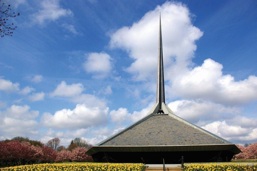 The North Christian Church by Eero Saarinen was completed in 1962.  Photo 3 of 4 in Why Columbus, Indiana, Should Be Your Next Design Destination