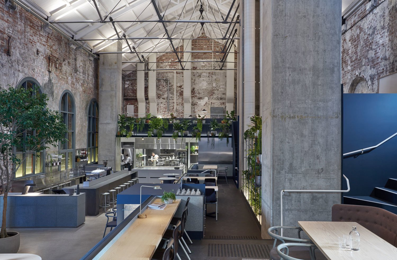 Photo 1 of 10 in An Old Power Station in Melbourne is Transformed Into A Modern Tiered Restaurant