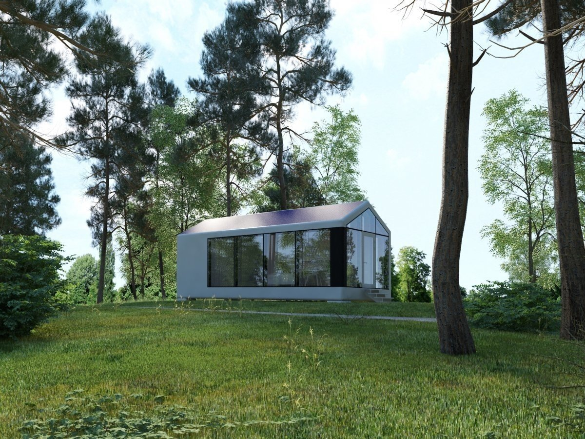 PassivDom claims that the homes stay completely insulated, whether it's in warm or Arctic conditions. Tagged: Trees, Front Yard, and Outdoor.  Photo 2 of 6 in This Zero-Energy Passive Mobile Prefab Was Partially 3D Printed