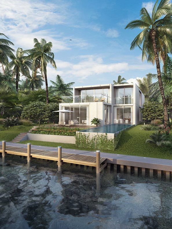 One example of the 15 single-family villas at The Residences.