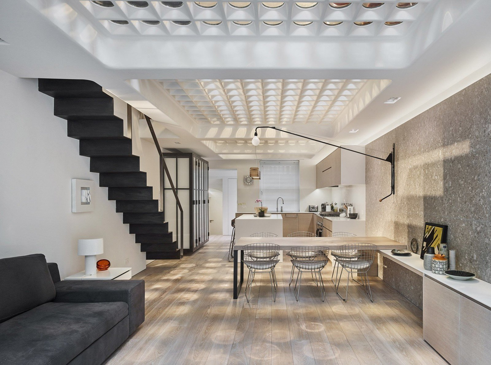 Photo 1 of 12 in Transparent Perforated Circles Bring Light and Movement to This London Terrace House