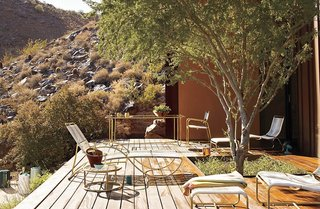 15 Modern Outdoor Seating Pieces To Take You Into Summer - Photo 3 of 5 - Designer Walter Lamb was experimenting with bronze and copper tubing salvaged from sunken naval ships at Pearl Harbor when he created the prototype for this outdoor collection. Today, the pieces are crafted from weatherproof-brass that will develop a rich patina over time. Hand-wrapped with marine-grade, UV-stable cording, it's flexible enough to be comfortable and strong enough to withstand the elements.