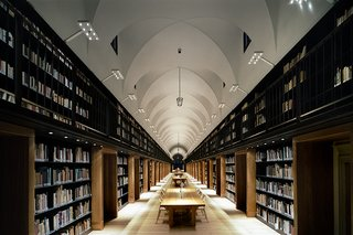 Nuova Manica Lunga, 2009. The restoration of a 15th-century library in Venice, Italy, included accommodation for more than 100,000 books.