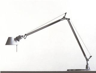 Tolomeo, 1987.  Designed in collaboration with Giancarlo Fassina for Artemide, this articulating lamp is one of the company's bestsellers.