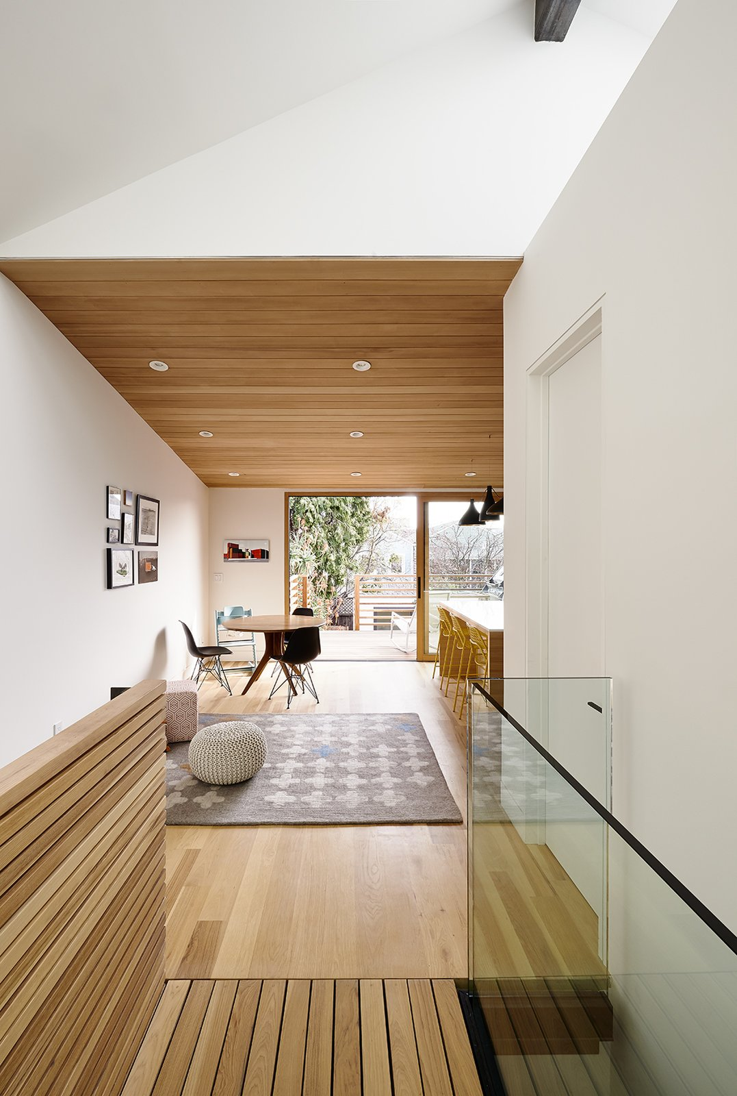 Red Dot Studio rehabbed a historically designated 1890 cottage Tagged: Light Hardwood Floor and Dining Room.  Best Photos from A Renovated Tiny Victorian with 21st-Century Interiors