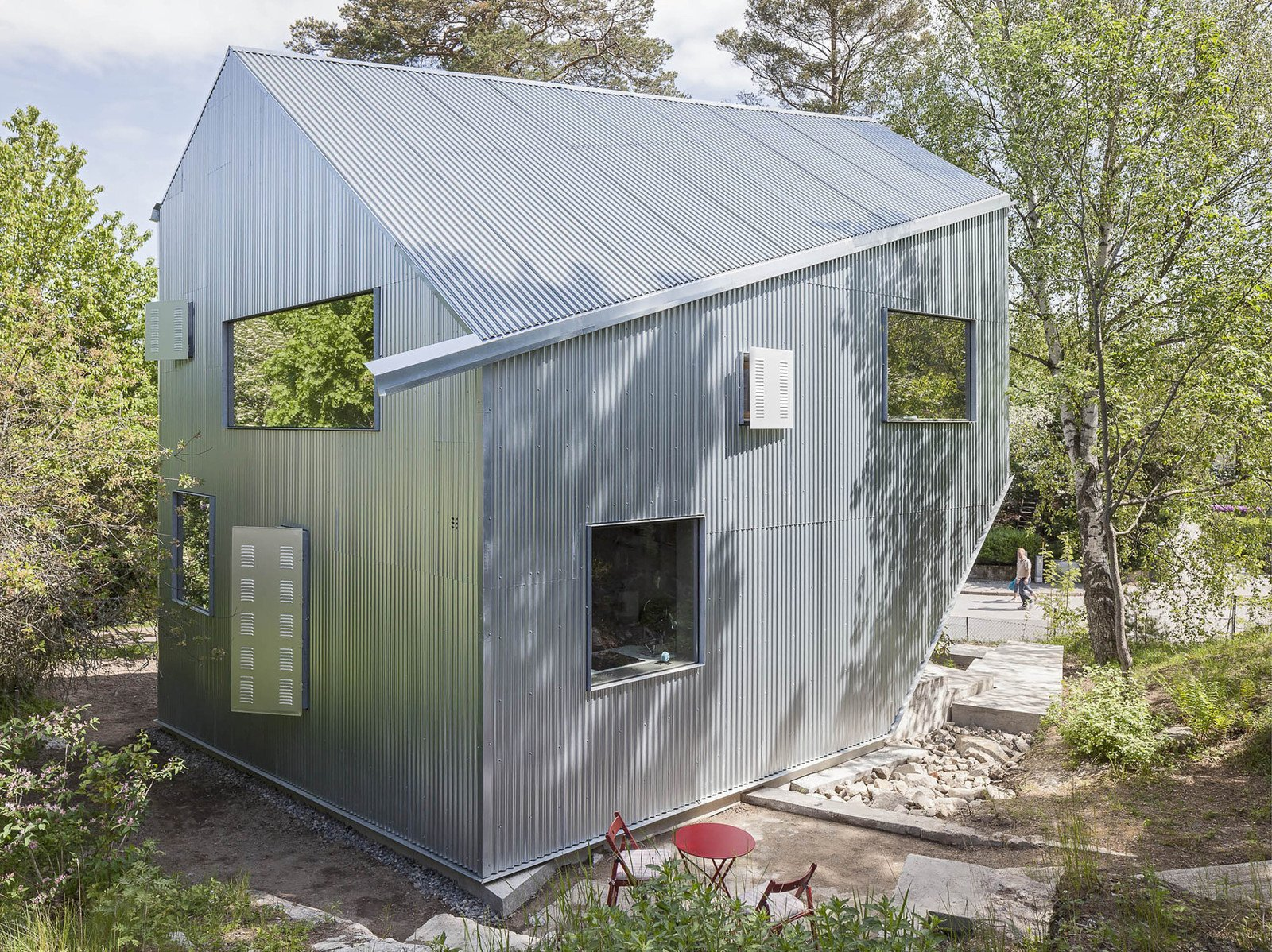Tagged: Exterior, Prefab Building Type, Metal Roof Material, and Metal Siding Material.  Photo 2 of 8 in 7 Affordable Prefab Homes and Other Alternative, Inexpensive Home Options