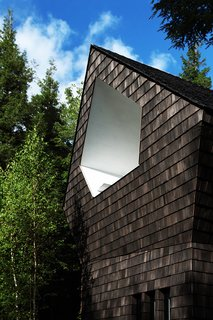 Growing Upward and Outward, a Cabin Expansion Mirrors the Trees - Photo 7 of 10 - Cedar shingles wrap the exterior.