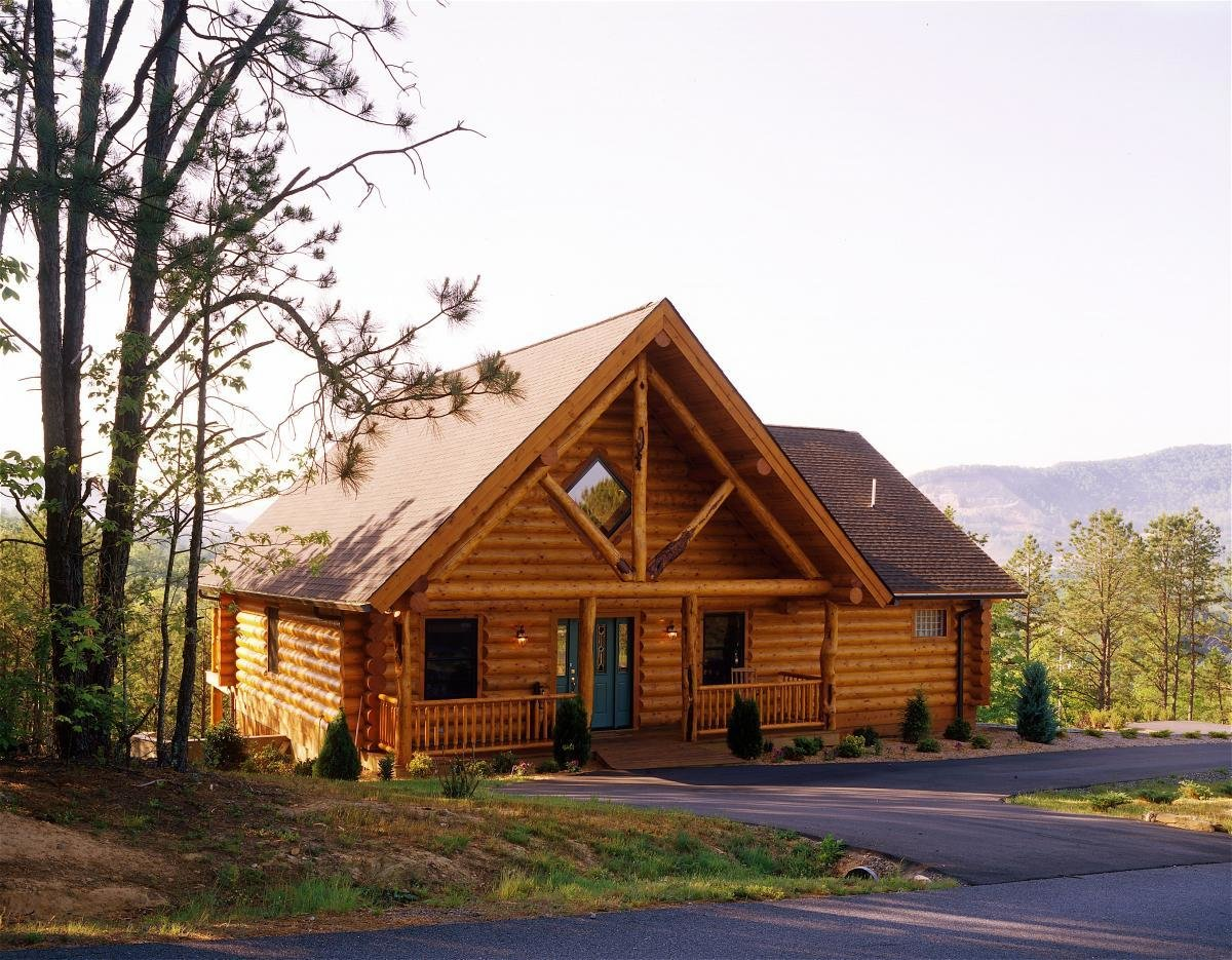 Yellowstone Log Homes offers the logs for your home as well as the building materials needed to dry in your home. You may customize your package by adding or removing individual items or from your package.  Photo 11 of 11 in 10 Prefab Log Home Companies