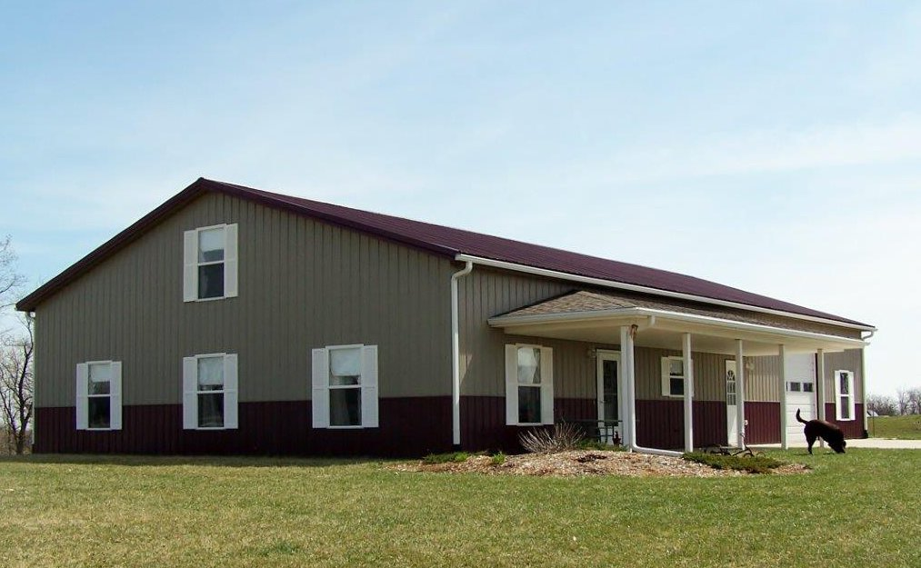 The Worldwide Steel Buildings system offers the owner the opportunity to use steel or wood for the secondary framing on 2' centers. Interiors can be finished off without having to build additional interior walls. Tagged: Exterior, Prefab Building Type, Wood Siding Material, and Gable RoofLine.  Photo 4 of 11 in 10 Kit Home Companies in the South