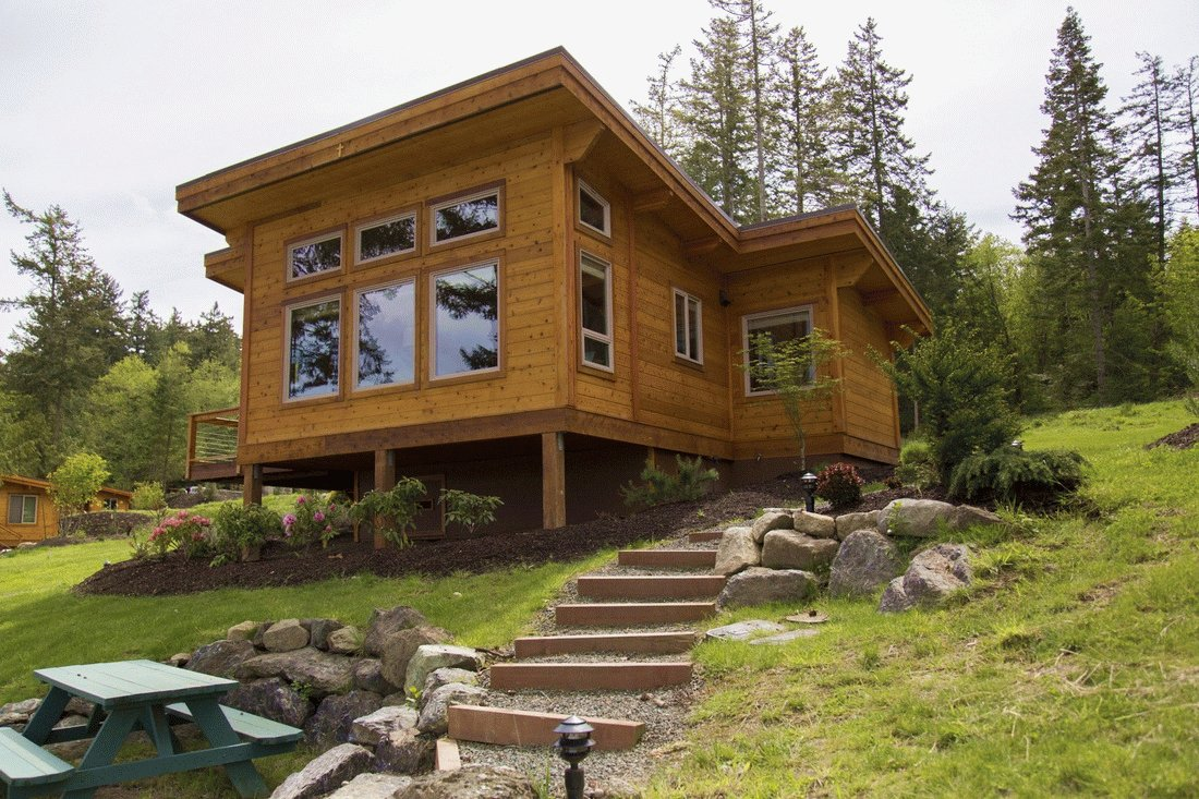 10 prefab log home companies dwell for Large cabin kits