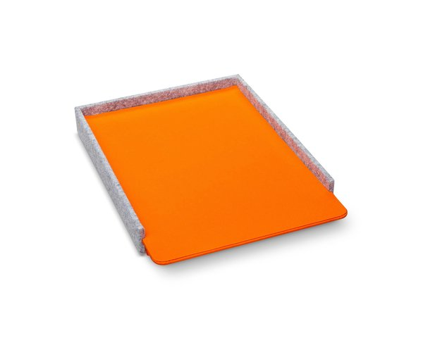 Modern by Dwell Magazine Orange Felt Paper Tray
