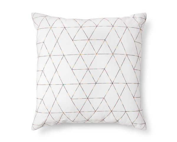 Modern by Dwell Magazine Triangle Stitched Floor Pillow
