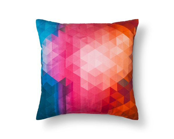 Modern by Dwell Magazine Orange Geo Pillow