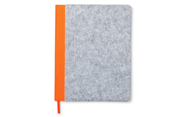 Modern by Dwell Magazine Orange Felt Notebook