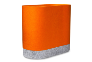 Modern by Dwell Magazine Orange Felt Storage Bin