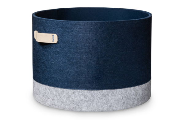 Modern by Dwell Magazine Navy Felt Storage Bin