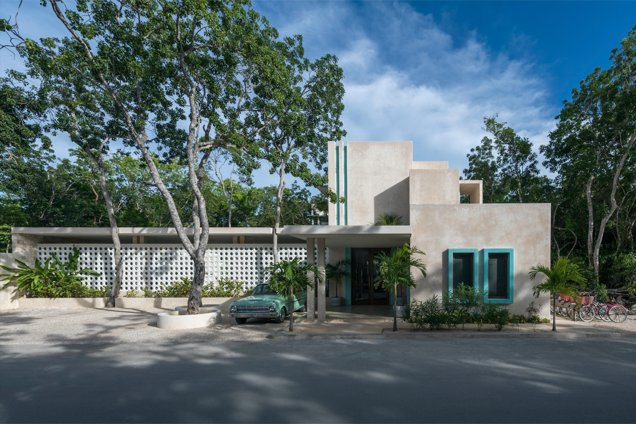 Photo 2 of 9 in A New Modern Hotel Brings Midcentury Miami to Tulum, Mexico