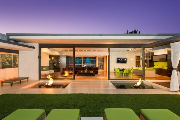 Modern home with outdoor, grass, and large patio, porch, deck. Photo 4 of Hopen Place
