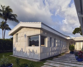 A Professor and Designer Tests a New Hybrid Material on His Miami Beach Home - Photo 3 of 11 - A 450-square-foot addition reconfigured the ranch house from an L- to a U-shape.