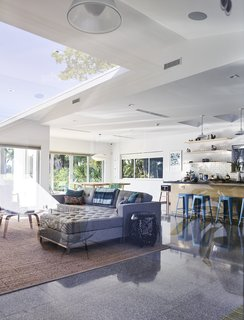 A Professor and Designer Tests a New Hybrid Material on His Miami Beach Home - Photo 6 of 11 - When the house's existing slab proved too damaged, Gelpi opted for a terrazzo floor tile by Perpetua in the same dimensions as the exterior tiles.