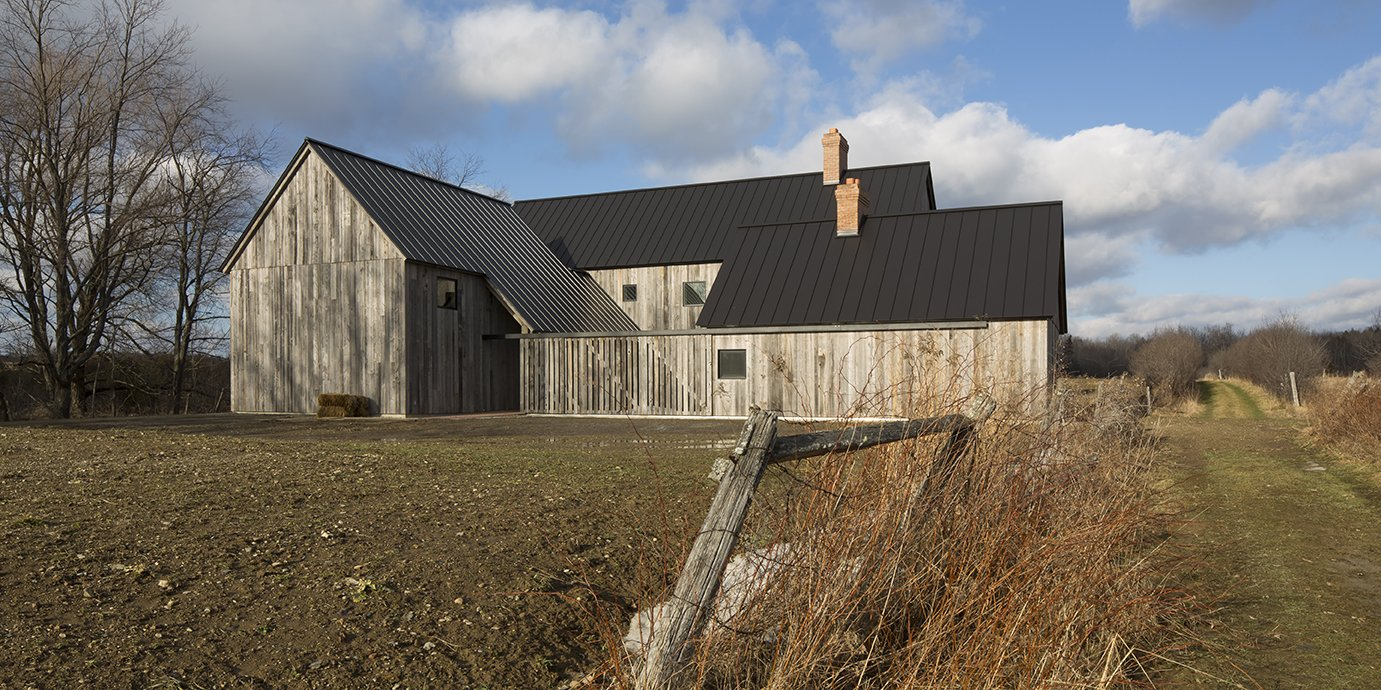 An Artist and Farmer Work With a Toronto-Based Studio to Build a Barn-Inspired Home