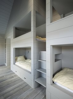 An Artist and Farmer Work With a Toronto-Based Studio to Build a Barn-Inspired Home - Photo 10 of 11 - LAMAS designed a quartet of bunkbeds large enough for adults.