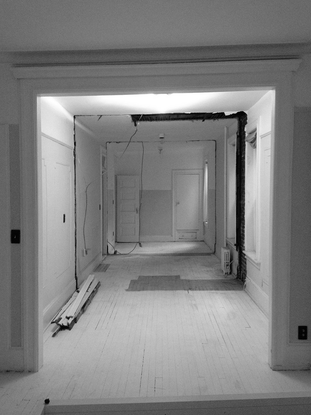 Tagged: Hallway.  Photo 10 of 13 in A Pair of Designers Renovate Their Brooklyn Brownstone With a Bright Monochromatic Palette