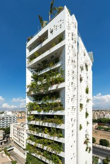 10 Jean Nouvel Buildings We Love - Photo 9 of 10 - As with many of Nouvel's designs, Cyprus Tower, a high-rise building located in the center of Nicosia, is ready-made with sprouts of greenery. Landscaping covers 80 percent of the building's southern facade.