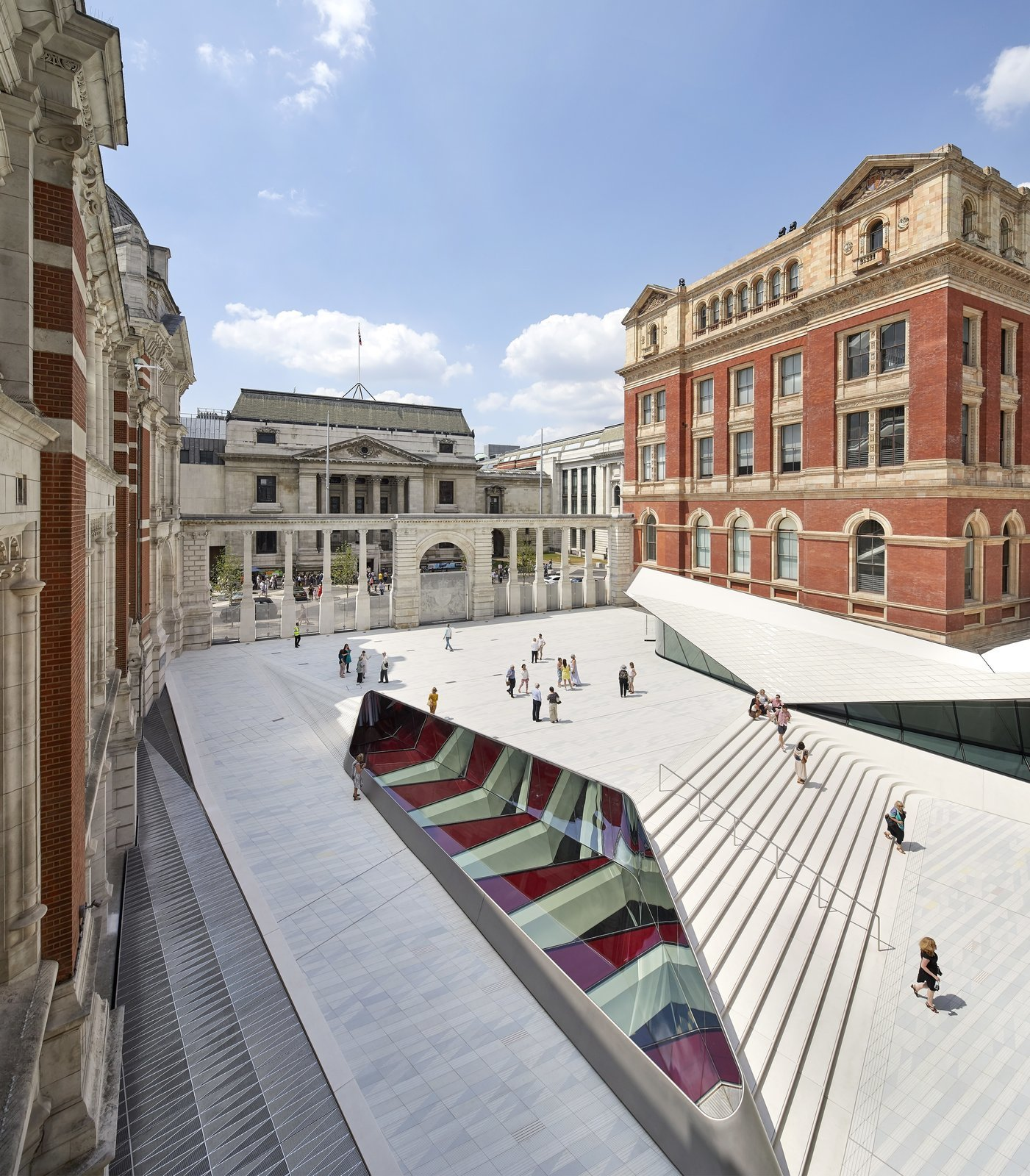 Part of an Epic Expansion, London's V&A Museum Paves its Courtyard With 11,000 Porcelain Tiles