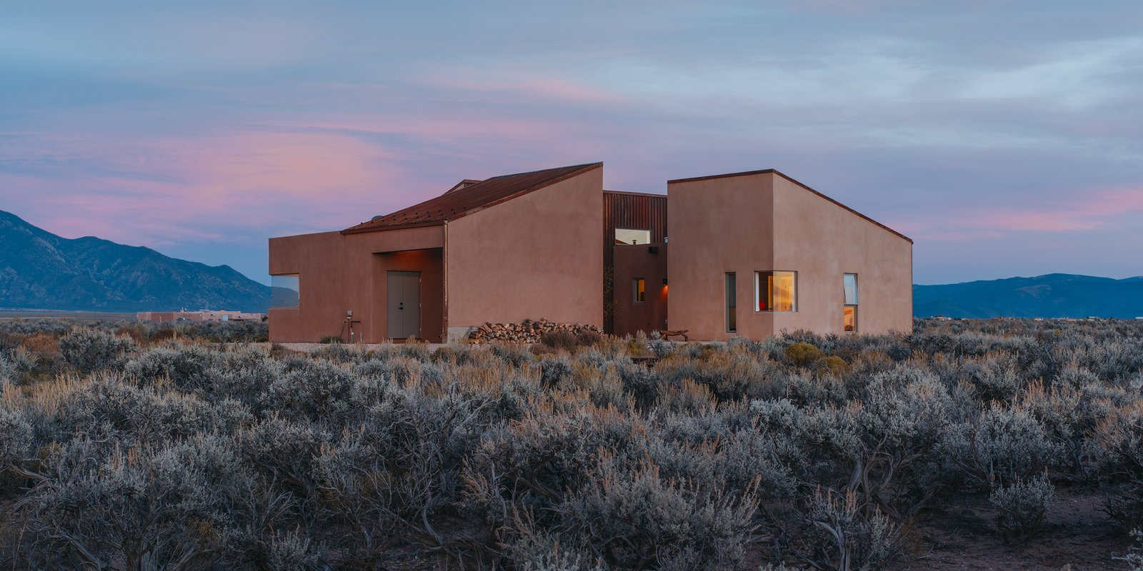 - Taos, New Mexico Dwell Magazine : July / August 2017 Tagged: Outdoor, Shrubs, and Desert.  Photo 1 of 11 in A Rookie Designer and Her Builder Father Create an Artist's Sculptural Loft in the Desert