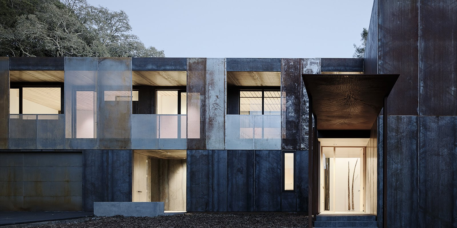 nature drove the design of this sculptural corten steel house in northern california dwell