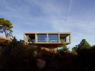 Stacked Concrete Squares Make Up This Incredible Vacation Home in Aragon, Spain
