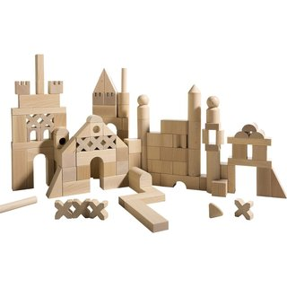 Foster Your Child's Creativity With These Modern, Architectural Building Toys For Kids - Photo 4 of 4 - Haba's wooden architectural building sets range from $39.99 to $44.99.