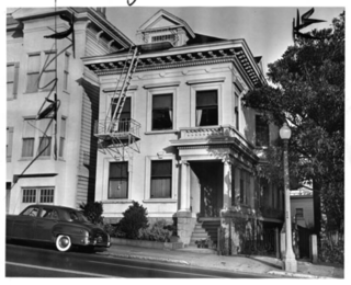 A Historic Victorian in San Francisco Is Meticulously Transformed Into a Modern Family Home - Photo 3 of 26 - Historic photograph, 1951. Subject property is shown on the left, with the primary facade and cornice covered with stucco.