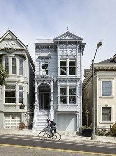 A Historic Victorian in San Francisco Is Meticulously Transformed Into a Modern Family Home - Photo 6 of 26 - The home's facade went through a laborious five-month reconstruction process, and when complete, was bathed in a demure coat of metallic silver paint.