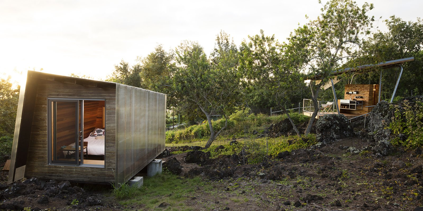 Maui, Hawaii Dwell Magazine : September / October 2017 Tagged: Shed & Studio and Living Space.  Photo 1 of 9 in Two Tiny Pavilions Respectfully Perch Atop a Lava Flow on Maui
