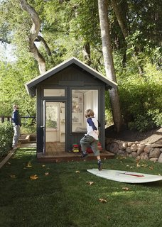 Space and Storage Needs Guide the Expansion of a Family's Cottage North of San Francisco - Photo 7 of 12 - Stefanie designed the hut. It was constructed by landscaper Ronald Gramajo, who also did the plantings and irrigation on the property.