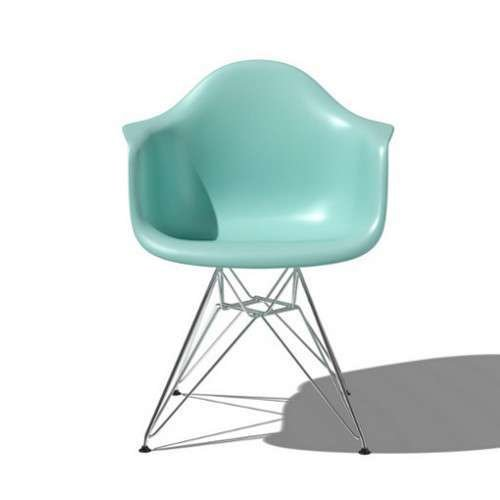 Eames® Molded Plastic Armchair with Metal Base by Herman Miller