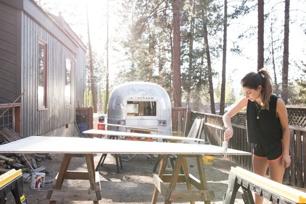 See How an Oregon Couple Renovated Their 1966 Airstream Themselves—From Start to Finish