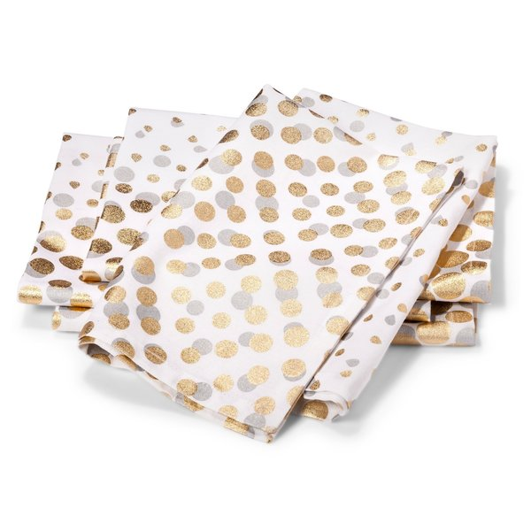 Modern by Dwell Magazine Napkins - Metallic Dot (Set of 4)