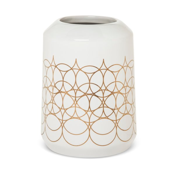 Modern by Dwell Magazine Stoneware Metallic Vase - Medium