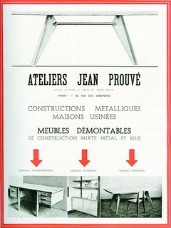 An Expanded Monograph Looks Back on the Life and Career of Modern Master Jean Prouvé - Photo 1 of 3 - Jean Prouvé (1901-1984) opened his first workshop in Nancy, France, making wrought iron grilles and doors.</p><p><br> Advertisement from the Ateliers Jean Prouvé, in L'Architecture d'Aujourd'hui No. 2, July-August 1945 ©D.R.