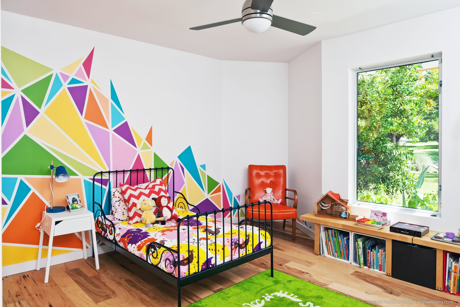 Tagged: Kids, Bedroom, Bed, Night Stands, Chair, Medium Hardwood, and Pre-Teen.  Best Kids Chair Medium Hardwood Photos from An Austin Couple Turn a Ranch Home Into a Refreshing Live/Work Space