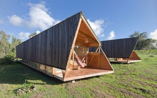 "Experience the Magic of Easter Island While Staying in a Modern Eco-Cabana - Photo 1 of 6 - The warm wood construction and sleek ""primitive-modern"" look captures the energy of the island."