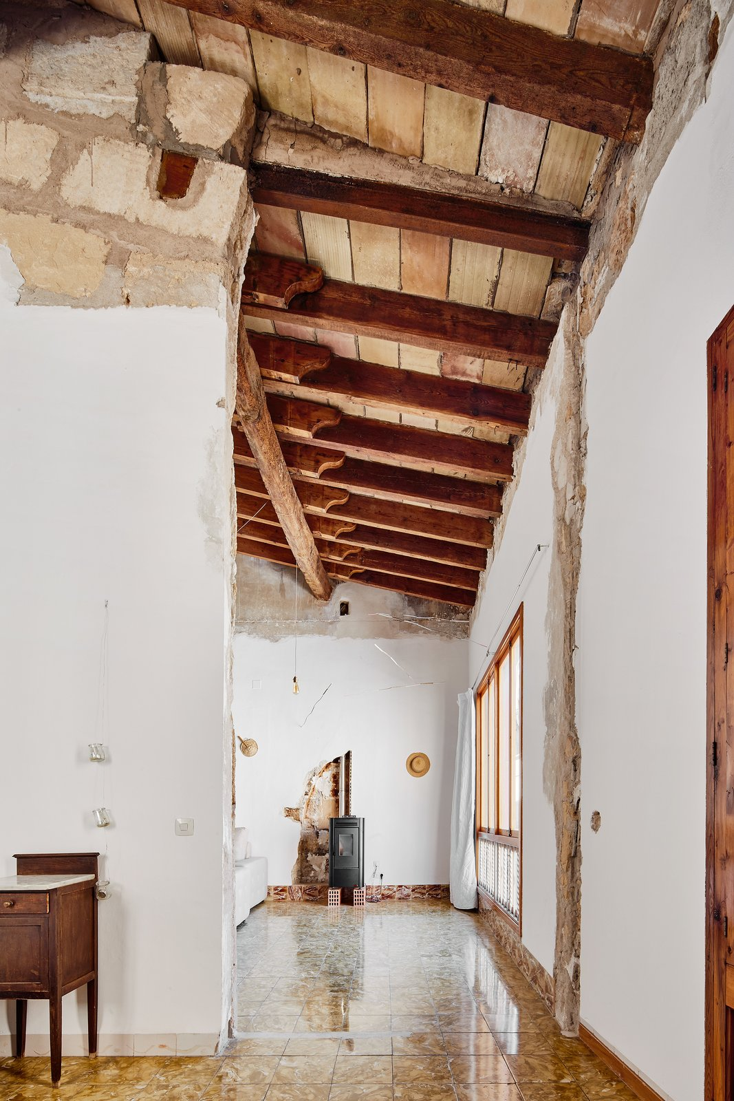 Tagged: Hallway.  Photo 6 of 13 in A Salvaged Apartment on Mallorca Leaves its Roots Exposed