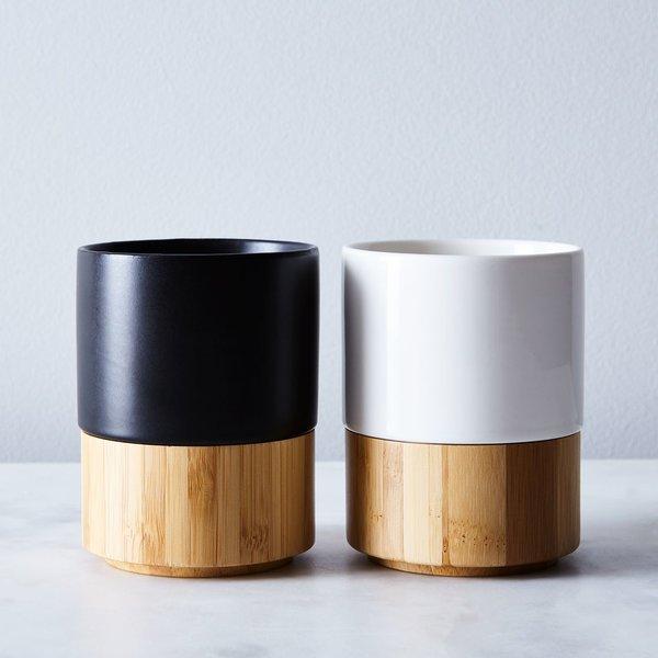 Stoneware & Bamboo Mug