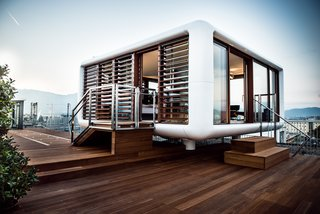 Stay in a Prefab Cube Placed Atop a Midcentury Hotel in Austria - Photo 1 of 8 -